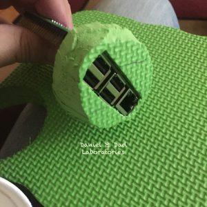 Coffee Cup RaspberryPi Case - foam frame top fit