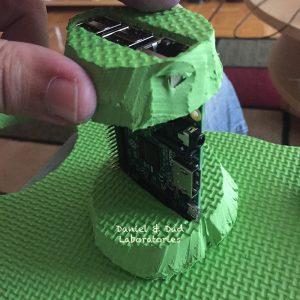 Coffee Cup RaspberryPi Case - foam frame both sides