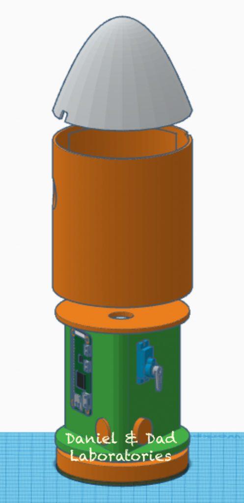 water rocket v2 - 3d model